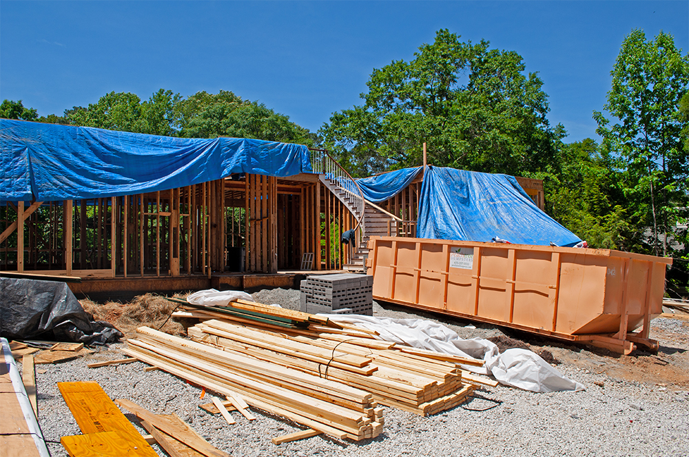Peachtree Dumpsters On Residential Site